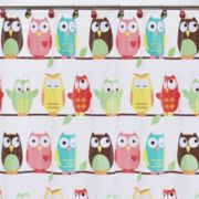 Owls PEVA Shower Curtain