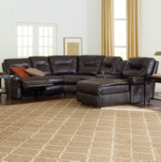 Brinkley 5-pc. Faux Leather Reclining Chaise Motion Sectional