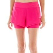 Xersion™ Stretch Woven Shorts with Compression Short Liner