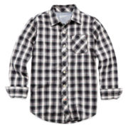 Arizona Button-Front Plaid Shirt - Boys 6-18 and Husky