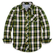 Arizona Button-Front Plaid Shirt - Boys 6-18 and Husky