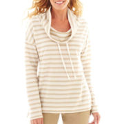 St. John's Bay® Long-Sleeve Cowlneck Tunic