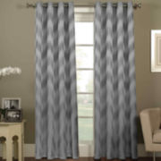 Ikat Chevron Grommet-Top Curtain Panel