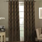 Ikat Chevron Grommet-Top Curtain Panel