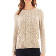 St. John's Bay® Long-Sleeve Boatneck Sweater
