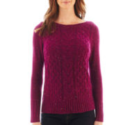 St. John's Bay® Long-Sleeve Boatneck Sweater