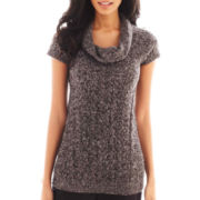 Worthington® Short-Sleeve Chunky Cowlneck Sweater - Tall