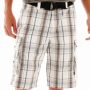 Lee® Wyoming Belted Plaid Cargo Shorts