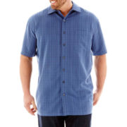 The Foundry Supply Co.™ Textured Plaid Woven Shirt–Big & Tall