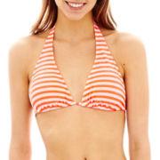 Arizona Striped Slider Halter Swim Top  - Juniors