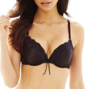 THE BODY Elle Macpherson Intimates BOOST Satin and Lace Pushup Bra