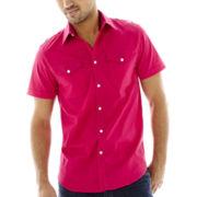 JF J. Ferrar® Short-Sleeve Military Shirt