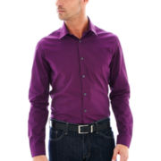 JF J. Ferrar® Long-Sleeve Iridescent Woven Shirt