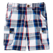 Arizona Plaid Cargo Shorts - Boys 4-7