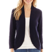 St. John's Bay® Pointelle Flyaway Shrug Cardigan