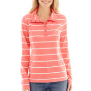 St. John's Bay® Long-Sleeve Striped T-Shirt
