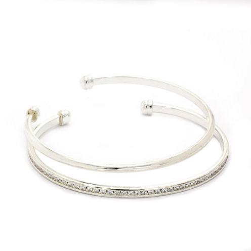 Sparkle Allure Cubic Zirconia Bangle Bracelet