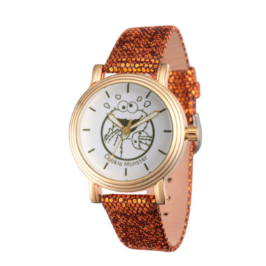 jcpenney.com | Sesame Street Womens Brown Strap Watch-Wss000012