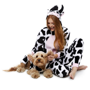 jcpenney.com | Cow One Piece Pajama and Dog Costume