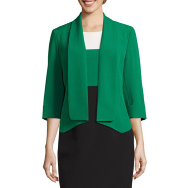jcpenney.com | Black Label By Evan-Picone 3/4 Sleeve Open-Front Jacket