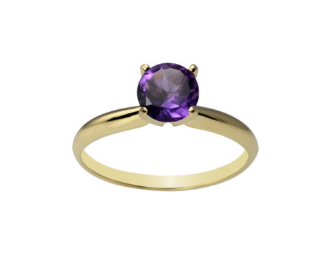 jcpenney.com | Womens Purple Amethyst 10K Gold Solitaire Ring