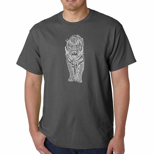 Los Angeles Pop Art Short Sleeve Graphic T-Shirt