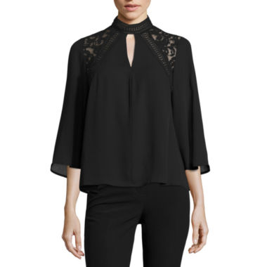 jcpenney.com | Worthington Long Sleeve Crew Neck Woven Blouse-Talls