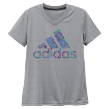jcpenney.com | Adidas Girls Short Sleeve T-Shirt-Big Kid