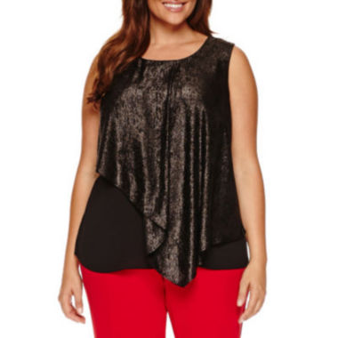 jcpenney.com | Worthington® Sleeveless Double Layer Tank - Plus
