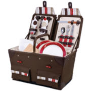 Picnic Time® Pioneer Deluxe Canvas Picnic Basket For Two