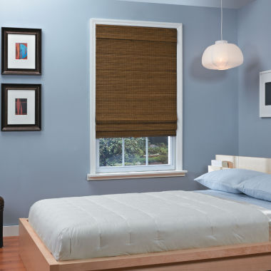 jcpenney.com | Natural Woven Bamboo Cordless Roman Shade