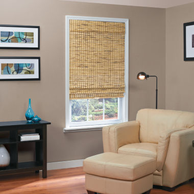 jcpenney.com | Burnout Bamboo Cordless Roman Shade