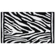 Bacova Zebra Cotton Bath Rug
