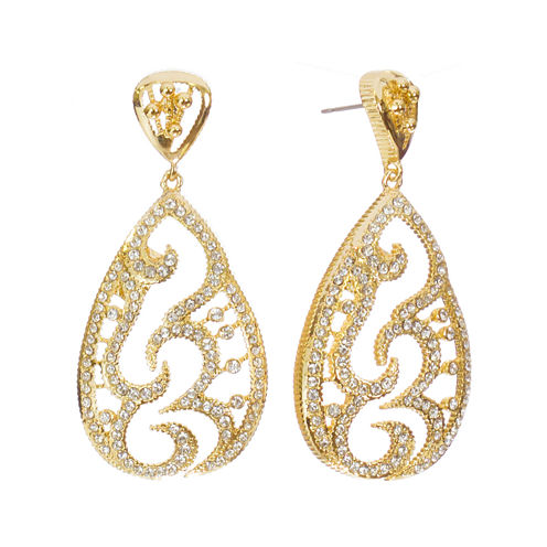 "telio! by Doris Panos ""Destiny"" Gold-Tone Teardrop Earrings"