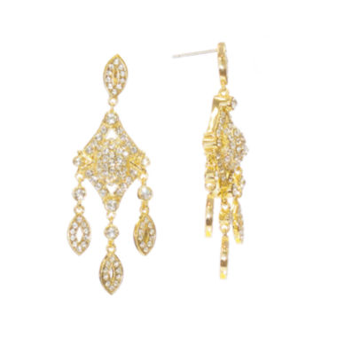 "jcpenney.com | telio! by Doris Panos ""Anastasia"" Gold-Tone Short Chandelier Earrings"