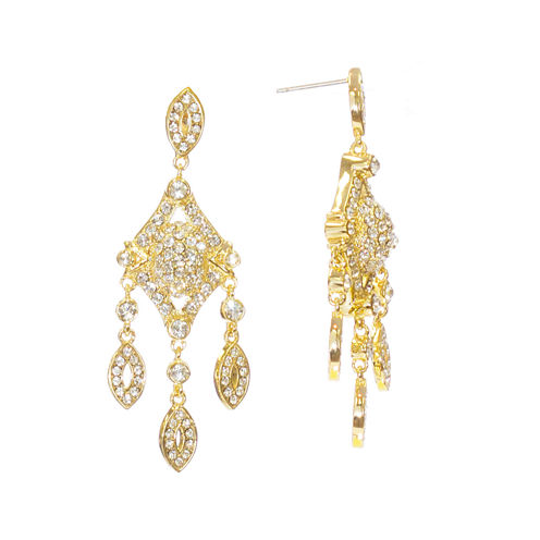 "telio! by Doris Panos ""Anastasia"" Gold-Tone Short Chandelier Earrings"