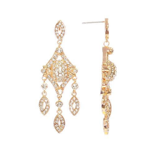 "telio! by Doris Panos ""Anastasia"" Rose-Tone Short Chandelier Earrings"
