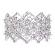 """telio! by Doris Panos """"Anastasia"""" Silver-Tone Crystal Bracelet"""