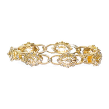 "jcpenney.com | telio! by Doris Panos ""Daphne"" Gold-Tone Crystal Bangle"