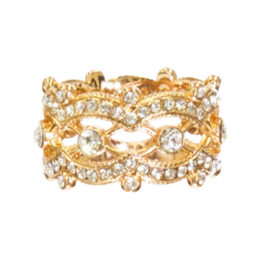 "jcpenney.com | telio! by Doris Panos ""Lolita"" Rose-Tone Crystal Ring"