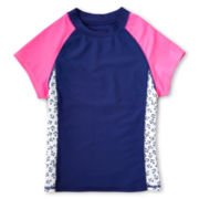 Breaking Waves Colorblock Rash Guard - Girls 6-16