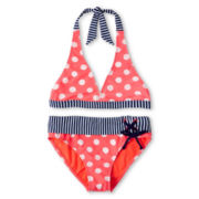 Breaking Waves 2-pc. Polka Dot Swimsuit - Girls 6-16