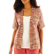Alfred Dunner® Cedar Creek Textured Cardigan Sweater - Petite