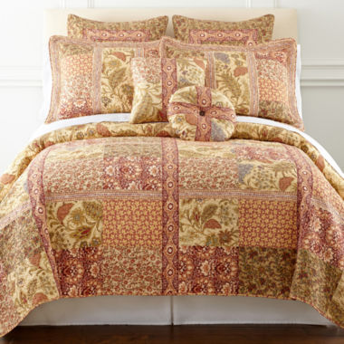 jcpenney.com | JCPenney Home™ Ceylon Tea Quilt & Accessories