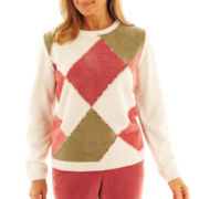 Alfred Dunner® Cedar Creek Chenille Diamonds Sweater