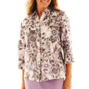 Alfred Dunner® Dover Cliffs Floral Scroll Jacket