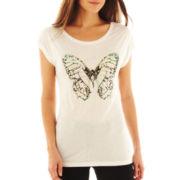 i jeans by Buffalo Butterfly Screen Tee