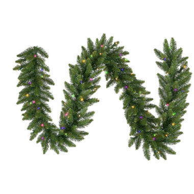 jcpenney.com | 50 Ft. Pre-Lit Camdon Fir Artificial Christmas Garland with Multi LED Lights