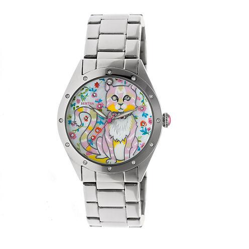 Bertha Womens Silver Tone Strap Watch-Bthbr6101