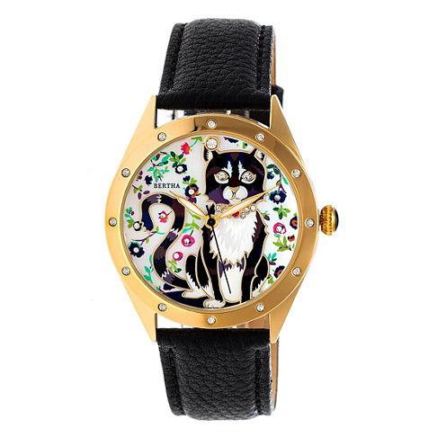 Bertha Womens Black Strap Watch-Bthbr6104